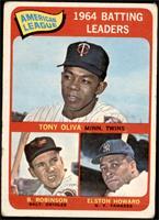 American League 1964 Batting Leaders (Tony Oliva, Brooks Robinson, Elston Howar…
