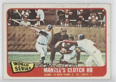 1965 Topps - [Base] #134 - Mickey Mantle [Good to VG‑EX]