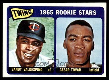 1965 Topps - [Base] #201 - 1965 Rookie Stars - Sandy Valdespino, Cesar Tovar [EXMT]