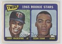 1965 Rookie Stars - Sandy Valdespino, Cesar Tovar
