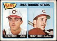 1965 Rookie Stars - Ted Davidson, Tommy Helms [VG]