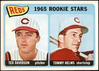 1965 Rookie Stars - Ted Davidson, Tommy Helms [VG EX+]