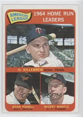 1965 Topps - [Base] #3 - American League Home Run Leaders (Harmon Killebrew, Boog Powell, Mickey Mantle)
