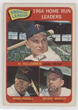 1965 Topps - [Base] #3 - American League Home Run Leaders (Harmon Killebrew, Boog Powell, Mickey Mantle) [PoortoFair]
