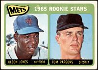 1965 Rookie Stars - Cleon Jones, Tom Parsons [VG+]