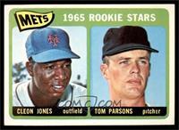 1965 Rookie Stars - Cleon Jones, Tom Parsons [EX]