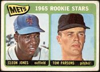 1965 Rookie Stars - Cleon Jones, Tom Parsons [POOR]