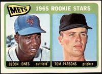 1965 Rookie Stars - Cleon Jones, Tom Parsons [VG]