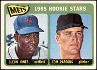 1965 Rookie Stars - Cleon Jones, Tom Parsons [VGEX]