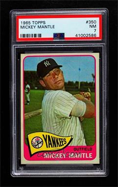 1965 Topps - [Base] #350 - Mickey Mantle [PSA 7 NM]