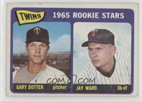 Twins 1965 Rookie Stars (Gary Dotter, Jay Ward) [GoodtoVG‑EX]