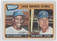 Dodgers 1965 Rookie Stars (Willie Crawford, Johnny Werhas)