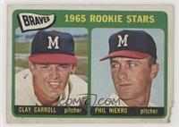 1965 Rookie Stars - Clay Carroll, Phil Niekro [Poor to Fair]