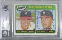 1965 Rookie Stars - Clay Carroll, Phil Niekro [BASCertifiedBGS…
