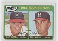 Braves 1965 Rookie Stars (Clay Carroll, Phil Niekro)