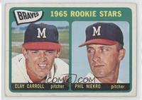 Braves 1965 Rookie Stars (Clay Carroll, Phil Niekro) [GoodtoVG&#820…
