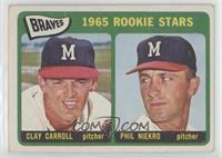Braves 1965 Rookie Stars (Clay Carroll, Phil Niekro) [GoodtoVG̴…