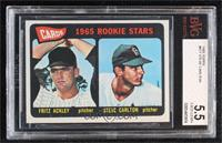 1965 Rookie Stars - Fritz Ackley, Steve Carlton [BVG 5.5 EXCELLENT+]
