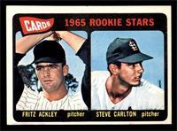 1965 Rookie Stars - Fritz Ackley, Steve Carlton [EX]