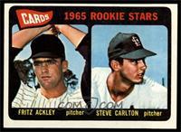 Cards 1965 Rookie Stars (Fritz Ackley, Steve Carlton) [EX]