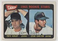 Cards 1965 Rookie Stars (Fritz Ackley, Steve Carlton) [Poor to Fair]