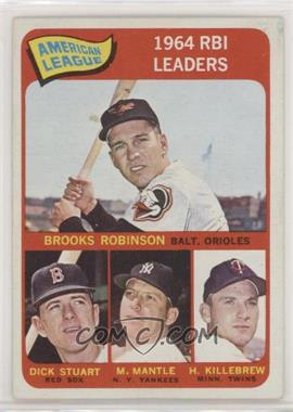 1965 Topps - [Base] #5 - Brooks Robinson, Mickey Mantle, Harmon Killebrew, Dick Stuart - Courtesy of COMC.com