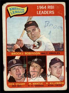 1965 Topps - [Base] #5 - Brooks Robinson, Mickey Mantle, Harmon Killebrew, Dick Stuart [FAIR]