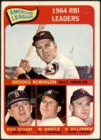 Brooks Robinson, Mickey Mantle, Harmon Killebrew, Dick Stuart [VG]