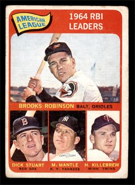 1965 Topps - [Base] #5 - Brooks Robinson, Mickey Mantle, Harmon Killebrew, Dick Stuart [GOOD]