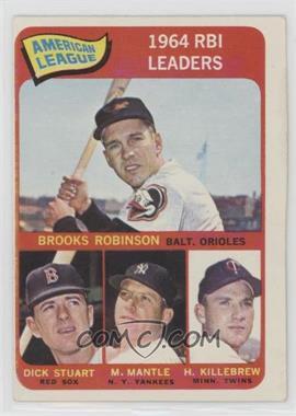 1965 Topps - [Base] #5 - Brooks Robinson, Mickey Mantle, Harmon Killebrew, Dick Stuart [GoodtoVG‑EX]