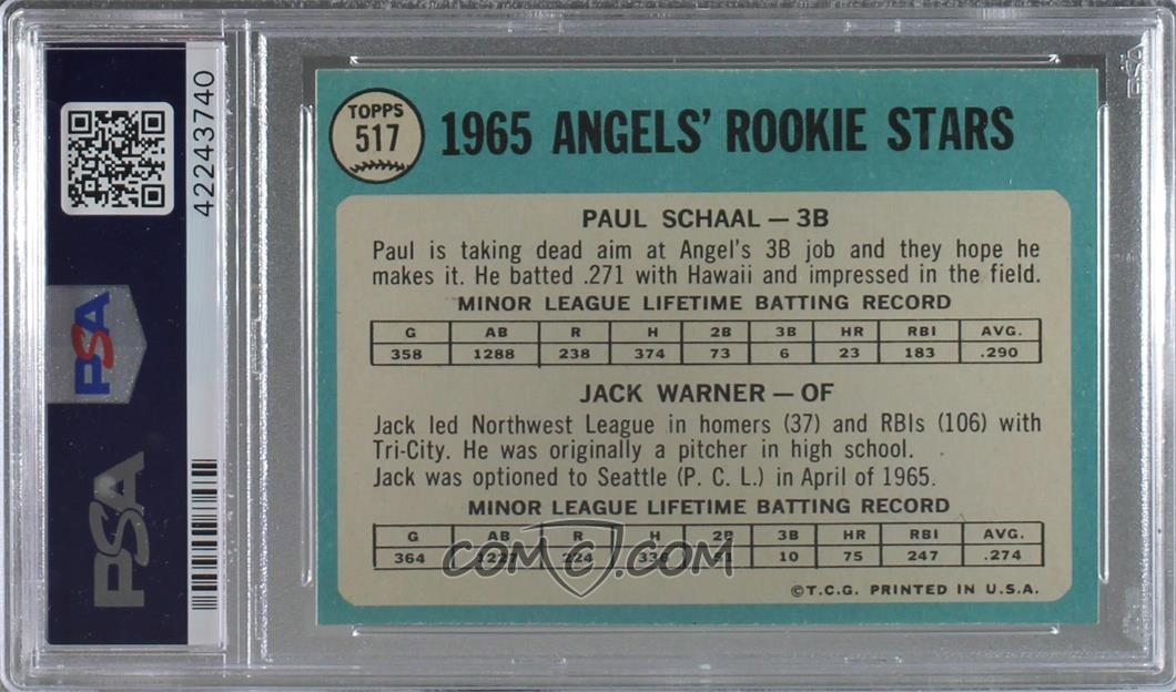 1965 Topps - [Base] #517 - Angels 1965 Rookie Stars (Paul