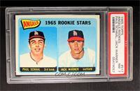 Angels 1965 Rookie Stars (Paul Schaal, Jackie Warner) [PSA7]