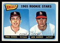 Angels 1965 Rookie Stars (Paul Schaal, Jackie Warner) [NM]