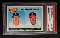 Angels 1965 Rookie Stars (Paul Schaal, Jackie Warner) [PSA6.5]