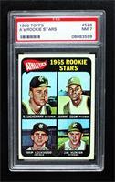 1965 Rookie Stars - Rene Lachemann, Johnny Odom, Skip Lockwood, Jim Hunter (Spe…