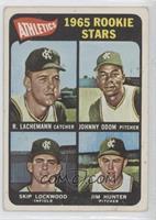 High # - Rene Lachemann, Johnny Odom, Skip Lockwood, Jim Hunter (Spelled Tim Hu…