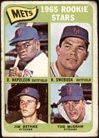 Mets Rookie Stars (Dan Napoleon, Ron Swoboda, Jim Bethke, Tug McGraw) [POOR]