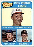 1965 Rookie Stars - Tony Perez, Kevin Collins, Dave Ricketts [NM]