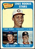 1965 Rookie Stars - Tony Perez, Kevin Collins, Dave Ricketts [VG EX+]