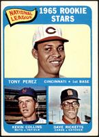 1965 Rookie Stars - Tony Perez, Kevin Collins, Dave Ricketts [VG EX]