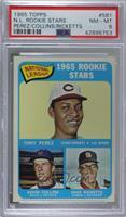 1965 Rookie Stars - Tony Perez, Kevin Collins, Dave Ricketts [PSA8N…
