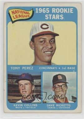 1965 Topps - [Base] #581 - 1965 Rookie Stars - Tony Perez, Kevin Collins, Dave Ricketts [Good to VG‑EX]