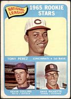 1965 Rookie Stars - Tony Perez, Kevin Collins, Dave Ricketts [GOOD]