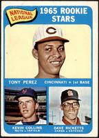 1965 Rookie Stars - Tony Perez, Kevin Collins, Dave Ricketts [VG]