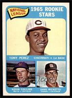 1965 Rookie Stars - Tony Perez, Kevin Collins, Dave Ricketts [EX]
