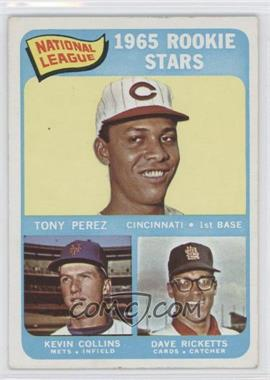 1965 Topps - [Base] #581 - High # - Tony Perez, Kevin Collins, Dave Ricketts [Good to VG‑EX]