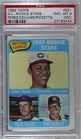 Tony Perez, Kevin Collins, Dave Ricketts [PSA 8 NM‑MT (MC)]