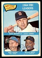 National League 1964 RBI Leaders (Ken Boyer, Ron Santo, Willie Mays) [EX]
