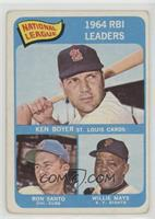 National League 1964 RBI Leaders (Ken Boyer, Ron Santo, Willie Mays) [Poor …