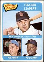 National League 1964 RBI Leaders (Ken Boyer, Ron Santo, Willie Mays) [EXM…